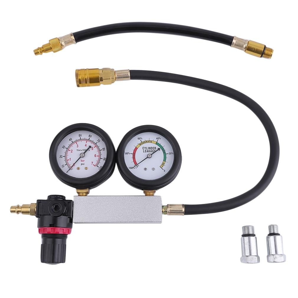 Universal Automobile Cylinder Leak Tester Compression Leakage Detector Kit Set Car Petrol Engine Gauge Tool Sets