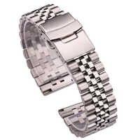 In Acciaio Inox Cinturini Uomini Delle Donne Del Braccialetto 18 millimetri 20 millimetri 22 millimetri 24 millimetri Argento Etero End Watch Band Strap accessori Per orologi