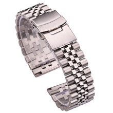 Stainless Steel Watchbands Women Men Bracelet 18mm 20mm 22mm 24mm Silver Straight End Watch Band Strap Watch Accessories men women stainless steel bracelet watch band strap straight end solid links june17