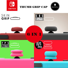 Skull&Co Pro Controller Joystick Cover Soft Silicone Rubber Thumb Grip Joycon Caps For Nintnendo Switch Button Case Accessories(China)
