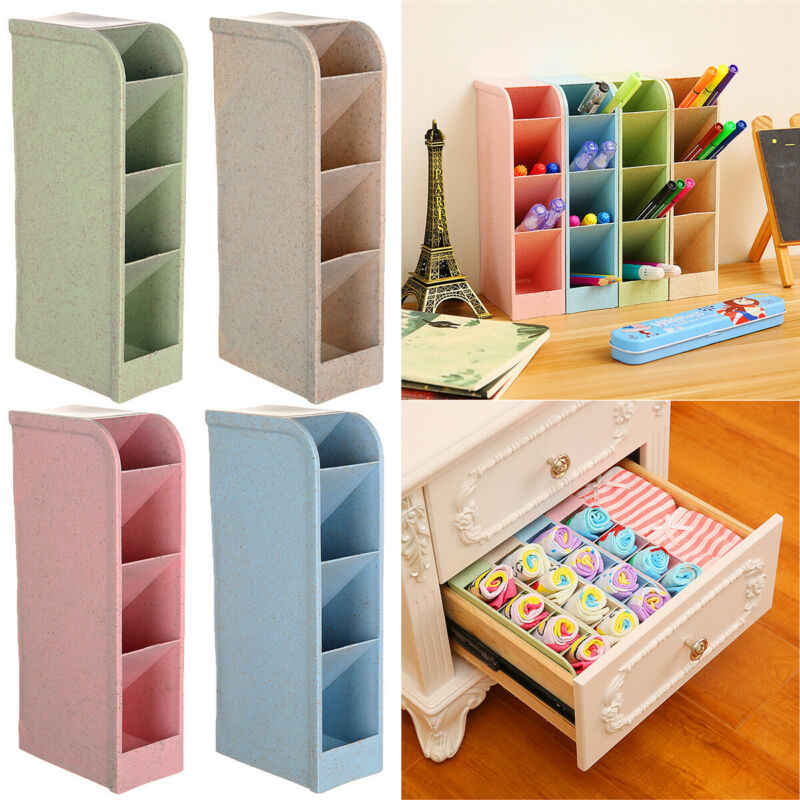 2020 Desk Organizer Desktop Pen Pencil Storage Box Holder Underwear Socks Storage Storage Boxe