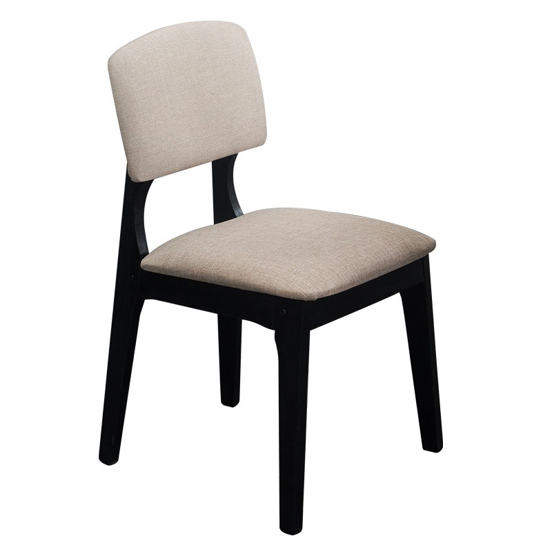 Solid wood modern minimalist solid color dining chair backrest home restaurant desk chair tea shop stool leisure chair