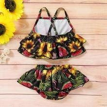 New Toddler Infant Baby Girls Watermelon Swimsuit One-piece Floral Swimwear Swimming Costume Summer Bikini