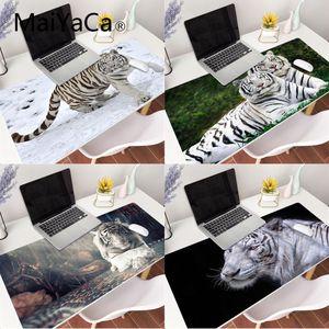 MaiYaCa белый тигр офисные мыши геймер мягкий коврик для мыши XXL коврик для мыши ноутбук Настольный коврик pc Gamer completo для lol/world of warcraft