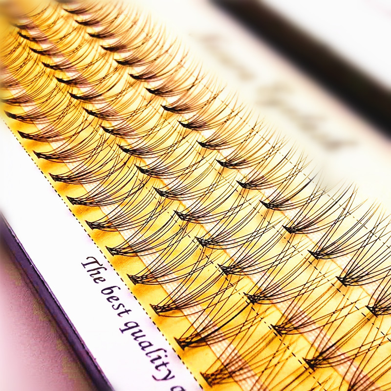 1 Box Big Capacity 60 Bundles 10D Eyelash Extensions 0.07mm Thickness Handmade 3D Individual Lashes Natural Style