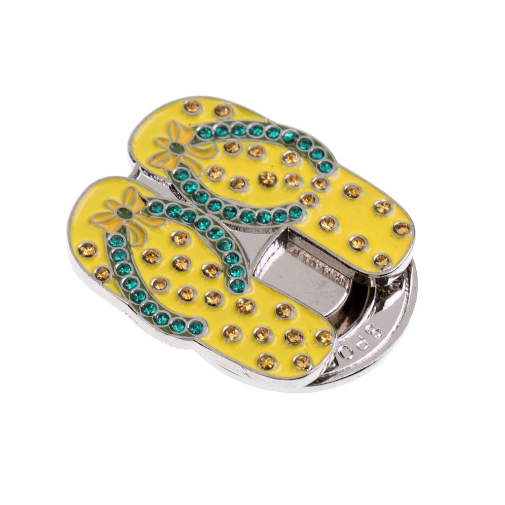Pretty Shiny Sandal Slippers Design Magnetic Hat Clip Golf Ball Marker Clip Onto Cap Visor Golfer Gift