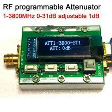 1MHZ 3800MHzโปรแกรมดิจิตอลRF Attenuatorควบคุม 0 31dBปรับ 1dB PCควบคุมได้