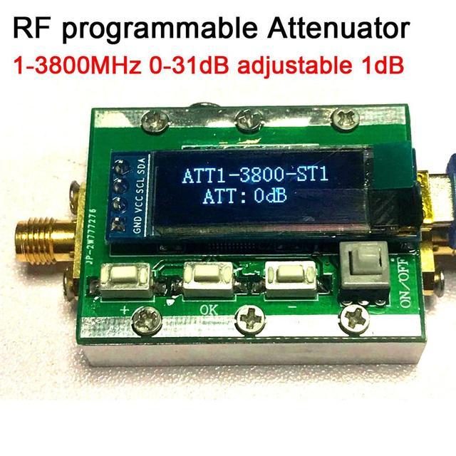 1Mhz 3800Mhz Digitale Programmeerbare Rf Verzwakker Controle 0 31dB Verstelbare Stap 1dB Pc Controleerbaar