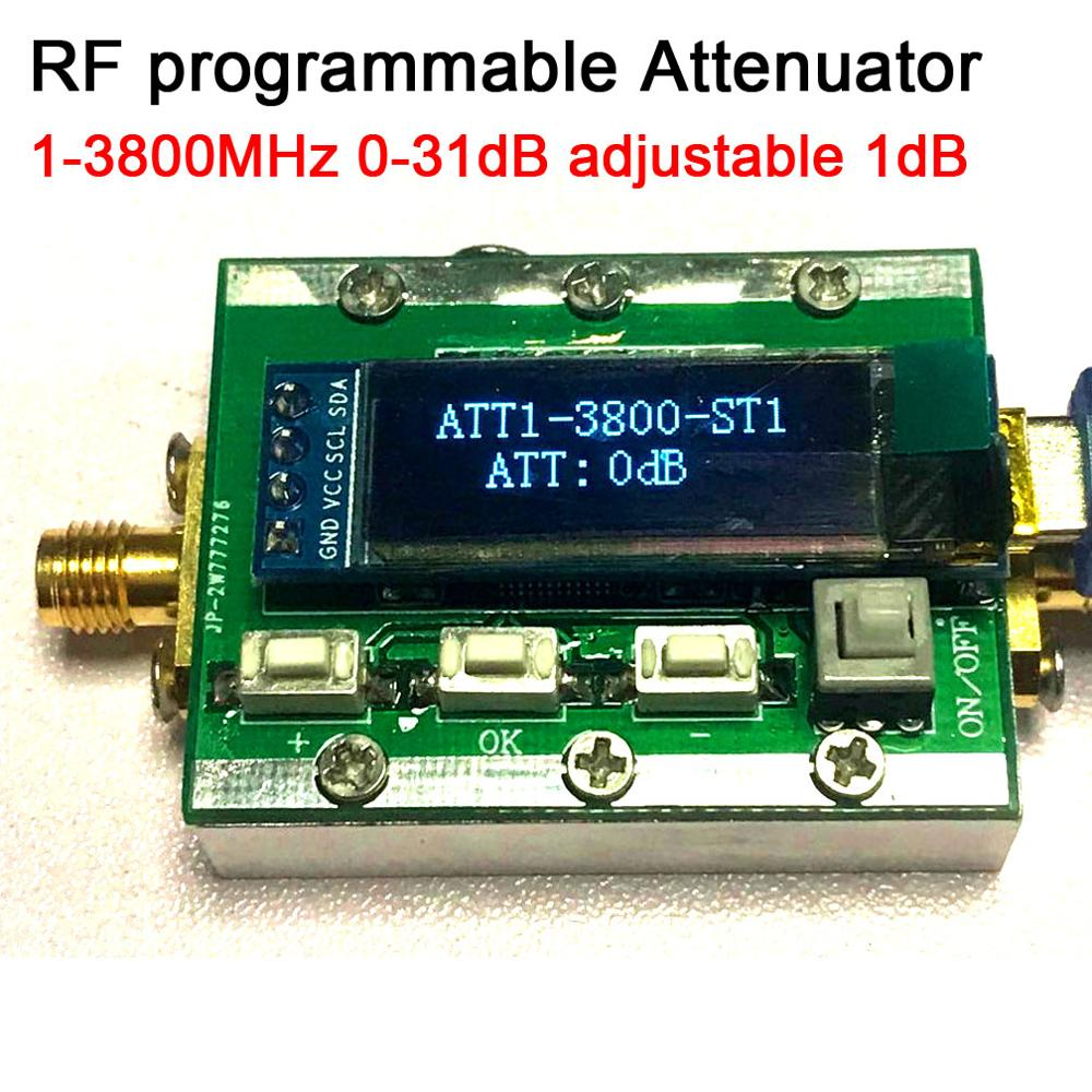 DYKB 1MHZ-3800MHz Digital Programmable RF Attenuator Control 0-31dB  Adjustable Step 1dB  PC Controllable