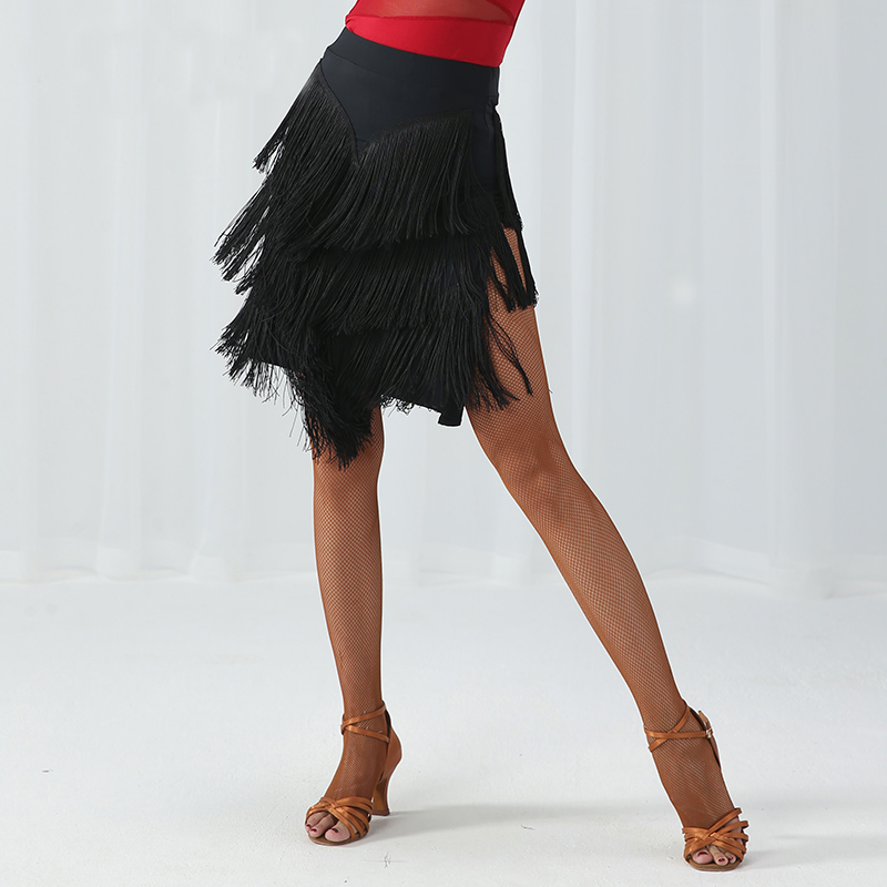 Fashion Tassel Placketing Costumes Modern Sexy Latin Dance Short Skirt For Woman/female,Ballroom Tango Performance Wear MD9311