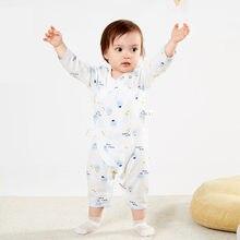 Комбинезон для новорожденных одежда маленьких девочек Цельный