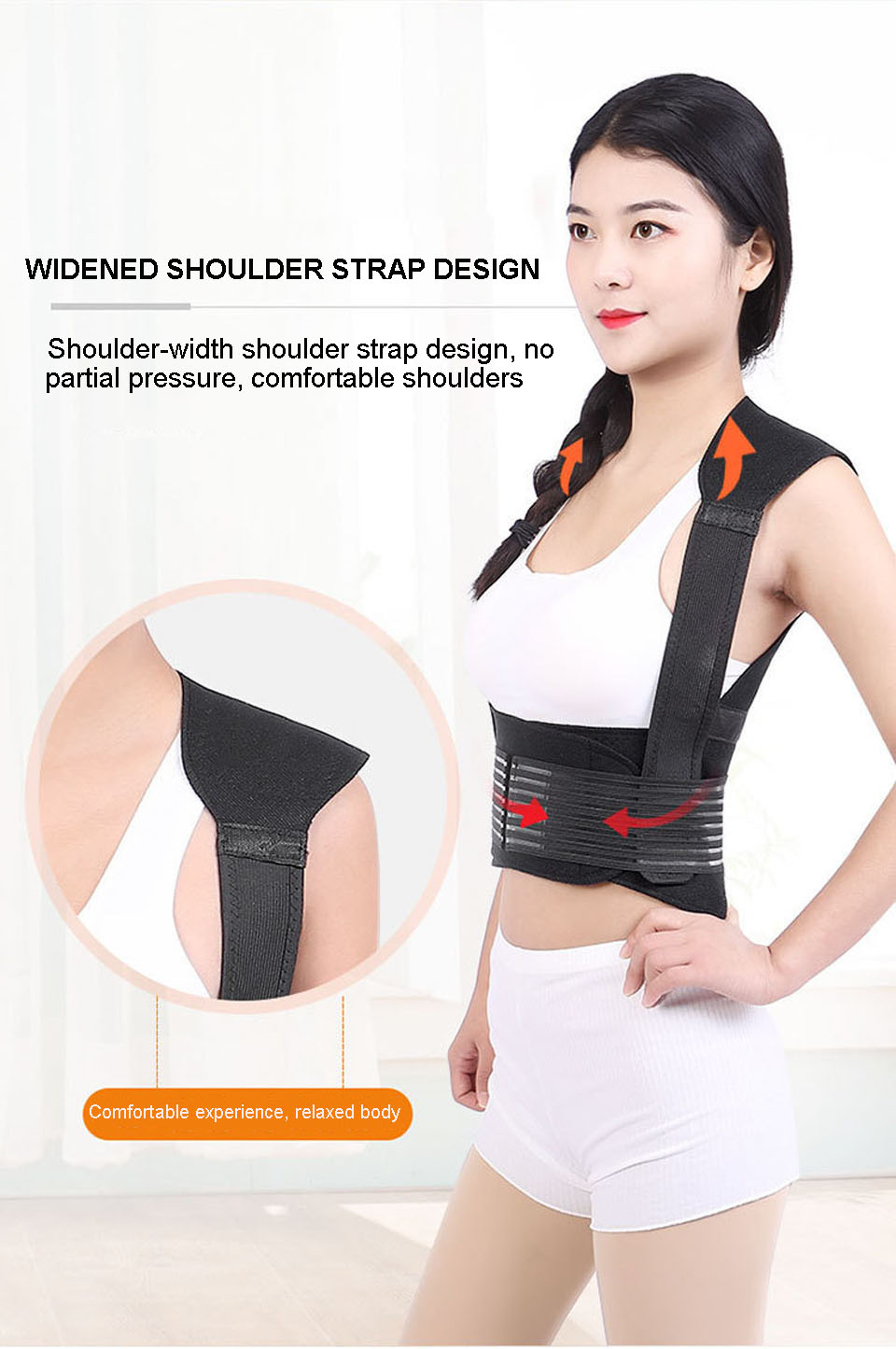 Tourmaline Self Heating Posture Corrector Belt with Nano Infrared Acupuncture Dot Matrix  to Support Spine and Shoulder Helps to Relieve Pain in Back and Joints 14