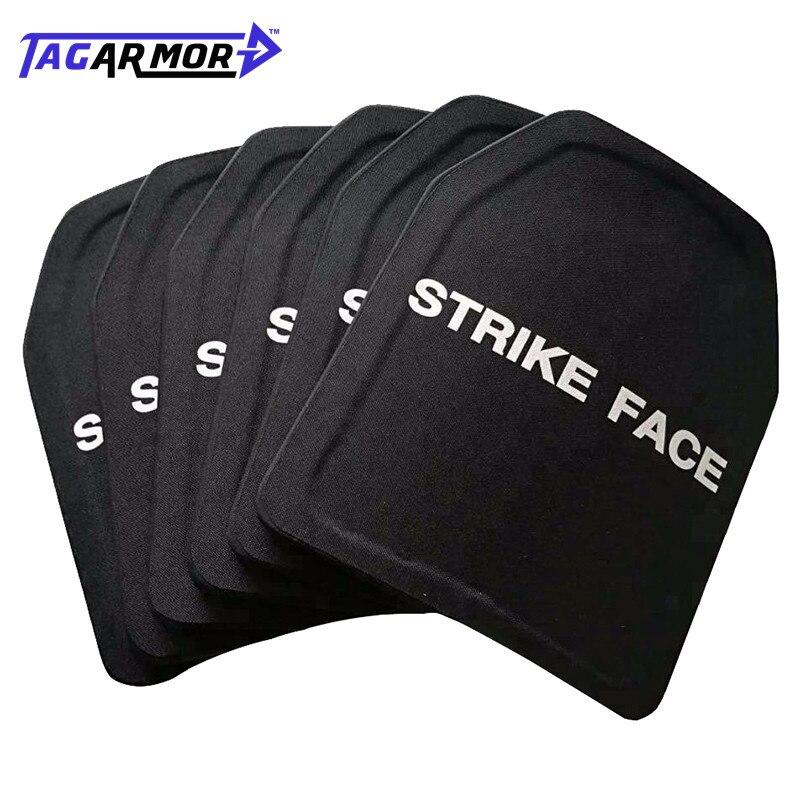 Tagarmor Military UHMWPE Ceramic NIJ III+ Stand Alone Ballistic Plate 10*12 Inch Bulletproof Insert Plate
