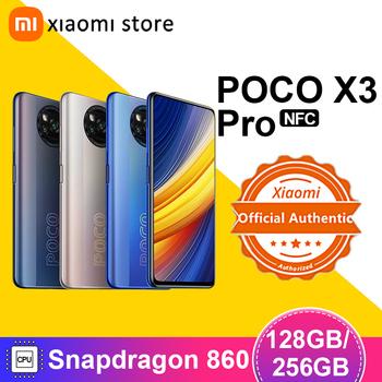 POCO X3 Pro wersja globalna 6GB 128GB 8GB 256GB Snapdragon 860 Smartphone 120Hz DotDisplay 5160mAh 33W NFC Quad AI kamera tanie i dobre opinie XIAOMI Niewymienna CN (pochodzenie) Android Zamontowane z boku Rozpoznawanie twarzy 48Mp Adaptacyjne szybkie ładowanie