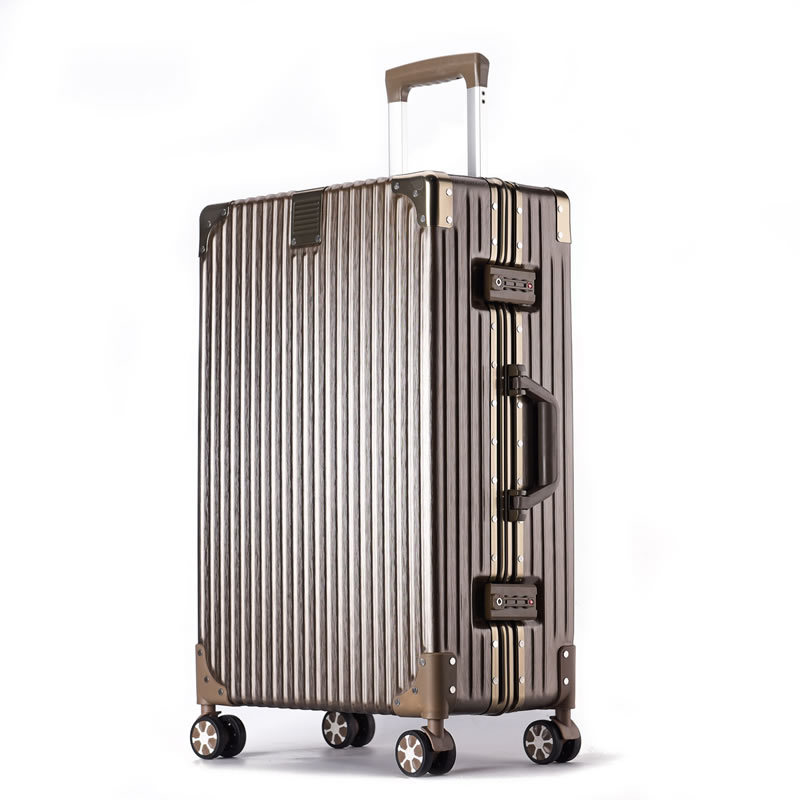 Right Angle Aluminum Frame Travel Trolley 20 Travel Lugguge 24 Luggage 28 Students Password Suitcase 26 Inch Box Universal Wheel