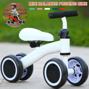 Kids Balance Bike Toddler Push Scooter Baby Walker Tricycle 4 Wheel Learn To Ride Pre Bike Kids Toddler Walker Push Bicycle