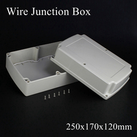 250x170x120mm ABS IP65 Waterproof Plastic Wire Junction Box Distribution Enclosure Project Case Electronic Terminal Instrument