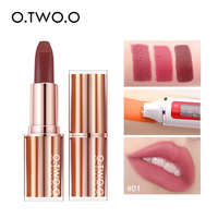 O.TWO.O Matte Lipstick Lips Makeup Waterproof Lip Balm Long Lasting High Pigmentation Lip Tint Square Lipstick Tube Cosmetic