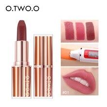 Matte Lipstick Makeup Lip Tint O.TWO.O Cosmetic Lip-Balm Long-Lasting Waterproof Square