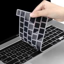 Para macbook mais novo pro 13 2020 a2251 a2289 a2338 m1 pro 16 polegada a2141 barra de toque da ue espanhol inglês teclado capa silicone pele