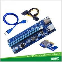 VER006S PCI-E yükseltici kart 30CM 60CM 100CM USB 3.0 kablosu PCI Express 1X to 16X genişletici PCIe adaptörü GPU madenci
