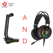 FANTECH RGB Earphone rack And Gaming Headphones 7.1 Surround Sound Earphones With Microphone For Game Player