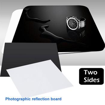 20 30 40CM fotograficzne płyty refleksyjnej plastikowa płytka akrylowe białe czarne tło Studio akcesoria wyświetlanie zdjęć pokładzie tanie i dobre opinie FW-RB30