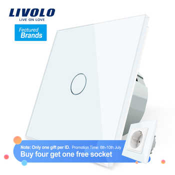 LIVOLO - Interrupteur tactile commutateur de lumière avec affichage LED, 1 Gang, 1 voie