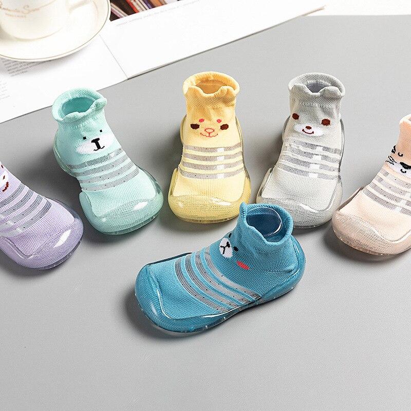 Children Anti-slip Shoes Newborn Baby Girl Cotton Non-slip Floor Socks Baby Boy Rubber Sole Cartoon Indoor Socks Infant Shoes 6