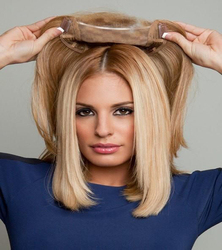 Медовый блонд 8*13 см кружево с шелковой основой сменная система человеческие волосы прямые парик для женщин