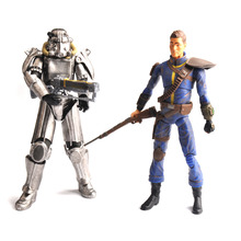Fallout 4 PVC Action Figure Two Colors 8 Power Armor Out of Clothing Toys Gifts Collections Displays Brinquedos for Fans Kid