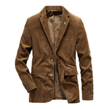 New Arrival Mens Suit Jacket Blazers High Quality Men corduroy Outerwear Fashion Male Coat Jacket For Men Brand Clothing(China)