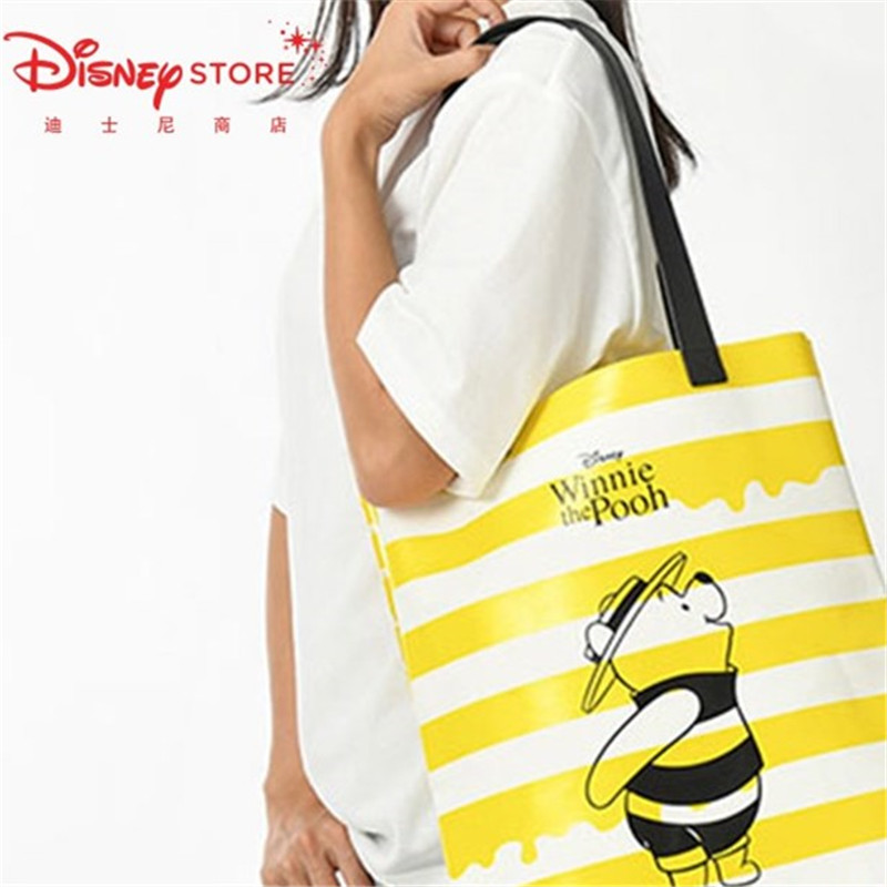 Disney Bee Winnie The Pooh Bear Cartoon Bag Large Capacity Shoulder Bag New Fashion Cute Handbag Women Bag