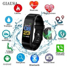 Smart Bracelet Heart Rate Monitor Blood Pressure Monitor Fitness Watches Step Counter Message Push pk fitbits mi Band 2 amazfit