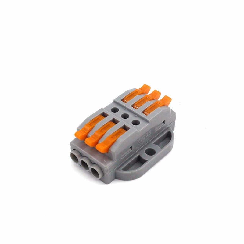 سريع العالمي الأسلاك المدمجة الموصلات دفع في محطة كتلة LED SPL-2 3 موصلات الأسلاك 222-413 415 لرسو السفن موصل الكابلات
