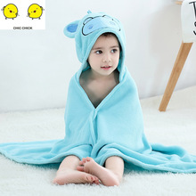 New Arrival Baby Girls Boy  Pajamas Kids Boys Cartoon Warm Hooded Sleepwear Children's Coral Velvet Bathrobes