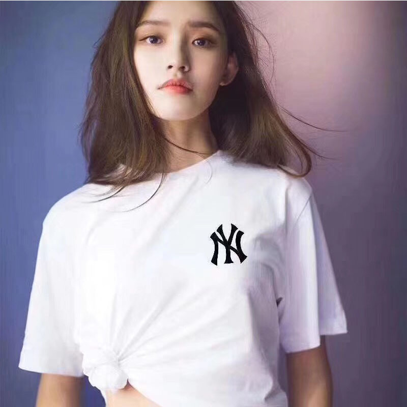 Spring-Summer New Style European And American-Style Popular Brand NY Yankees MLB Short Sleeved Lettered Printed T-shirt Blo