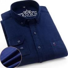 100% algodão mais tamanho 7xl camisa de veludo dos homens casual manga longa regular ajuste camisas de vestido de negócios para o bolso confortável masculino