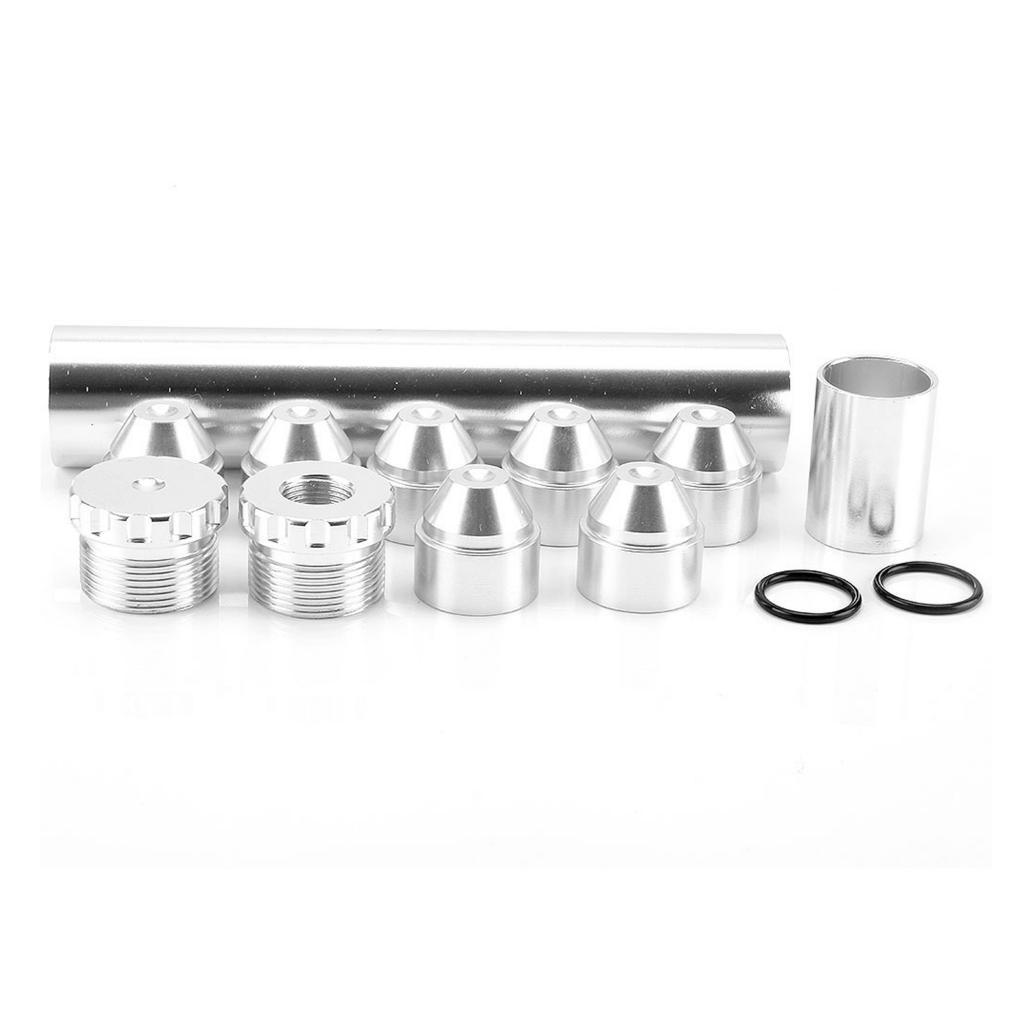 6in 5/8 ''-24 топливный масляный фильтр с конусным фильтром и концевыми колпачками серебристого цвета
