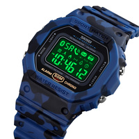 SKMEI Sprot Bluetooth Smart Watches impermeabile cardiofrequenzimetro Fitness Tracker Pedomete Digital LED orologi maschili Inteligente 1743
