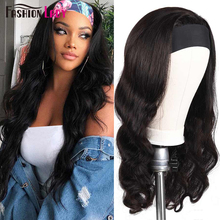 Fashion Lady Headband Wig Human Hair Body Wave Wig For Women Remy Brazilian Hair Wigs Machine Made Head band Scarf Wigs