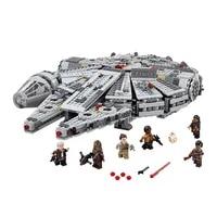 In stock 1381 Pcs Compatible Legoinglys Star Wars Millennium 05007 Falcon Spacecraft Building Blocks Birthday Gift Toys