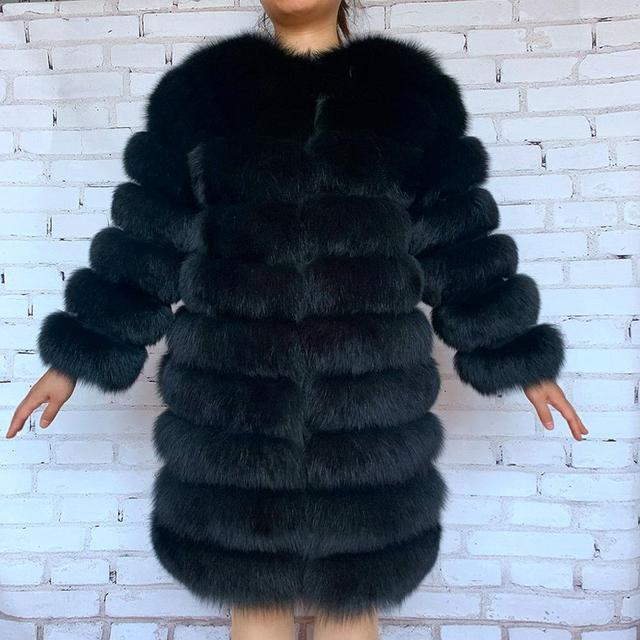 2020 Real Fox Fur Coat Women Natural Real Fur Jackets Vest  Winter Outerwear Women Clothes 1