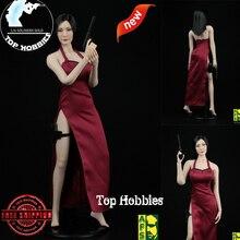 Фигурки аниме Коллекционная модель игрушки для подарка классический красный Cheongsam 1/6 масштаб A003R женский набор одежды юбка платье