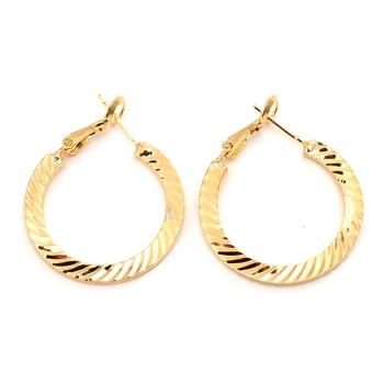 14 K Fine Gold GF Hoop Earrings Jewelry K-Gold Jewelry