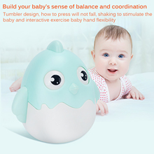 Baby Newborn Chicken Toys Nodding Tumbler Toys For Kid Ring Bell Cute Roly-Poly Educational Rattle Baby Development Toys