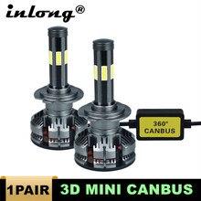חדש הגעה H7 Led ללא שגיאה H4 רכב פנס נורות H11 LED H8 HB3 9005 HB4 9006 מנורת 6500K 12V 16000LM אוטומטי Led ערפל אורות