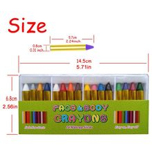 16 Colors Painted Face Crayons Children Face Body Painting Makeup Crayons H3CD