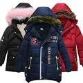 От 3 до 6 лет детская одежда  детское пальто  зимняя теплая куртка с буквенным принтом  хлопковая куртка с капюшоном для мальчиков