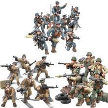 Ww2 Schlacht von Rheinland Moskau armee mega block action-figuren welt krieg eindringen in enemys hinten waffe gun gebäude ziegel spielzeug